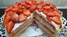 Epres tiramisu torta Waffles, French Toast, Sweets, Breakfast, Cakes, Food, Morning Coffee, Gummi Candy, Cake Makers