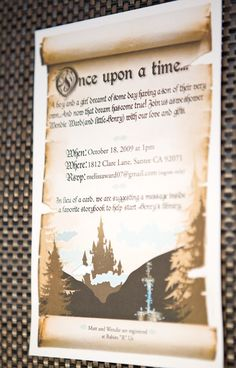 Fairytale invitation - maybe throw in a non fairy tails character, any book considered