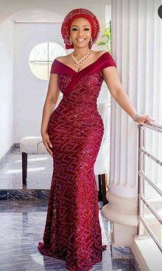 Petite Fashion Tips Ideal&Eazy Trendy Aso-Ebi Styles For You.Petite Fashion Tips Ideal&Eazy Trendy Aso-Ebi Styles For You African Wear Dresses, Latest African Fashion Dresses, African Print Fashion, African Attire, African Outfits, Lace Dress Styles, African Traditional Dresses, Gowns, Aso Ebi