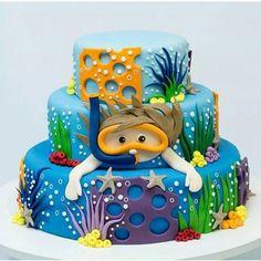 Cake   fundo do mar