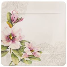 Villeroy & Boch Quinsai Garden Square Dinner Plate : Magnolia 10.5 in-00