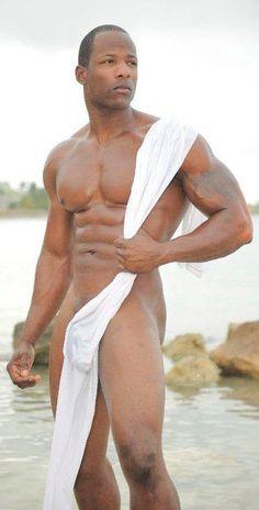 hot sexy black gay man male big bulge muscles
