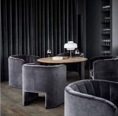 Loafer armchairs by looking luxurious inside Silo Restaurant by in Copenhagen Denmark. Space Copenhagen, Copenhagen Denmark, Lobby Lounge, Restaurant Lounge, Lounge Furniture, Sofa Chair, Old And New, Interior Architecture, Living Spaces