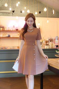 48 Ideas for moda coreana vestidos elegantes Style Outfits, Classy Outfits, Dress Outfits, Summer Outfits, Cute Dresses, Beautiful Dresses, Casual Dresses, Short Sleeve Dresses, Modest Fashion