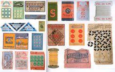 Vintage notion packaging