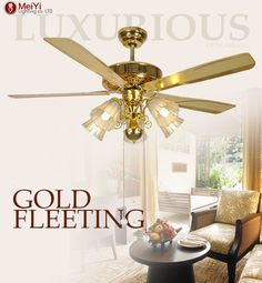 2016 Modern Ceiling Fan Crystal For Living Room ventilador de teto Indoor Lamp Wood Fan With Lights Free Shipping