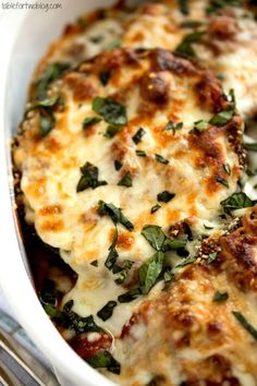 Eggplant Parmesan from www.tablefortwoblog.com