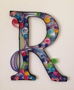 Paper Quilled Letter by FilledWithWhimsy on Etsy, $30.00