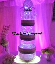 Wedding Cake Stand With Crystals Chandelier By FashionProposals