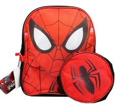 New Marvel Ultimate Spiderman 12 Inches Backpack With Lunch Bag ** Read more reviews of the product by visiting the link on the image. (This is an Amazon Affiliate link and I receive a commission for the sales)