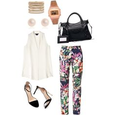 """white class"" by mclucky16 on Polyvore"