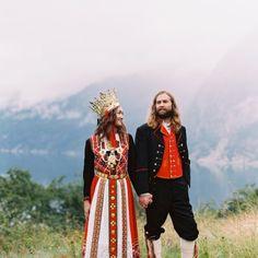 Traditional Norwegian Wedding - Bunadsbryllup in Eidfjord by Nina & Wes