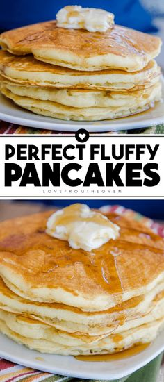 This Homemade Fluffy Pancake Recipe is just as easy to make as a box pancake mix! Delicious buttermilk fluffy pancakes are just a few minutes and ingredients away! pancakes breakfast brunch pancak is part of Fluffy pancake recipe - Best Pancake Recipe Fluffy, Pancake Recipe With Yogurt, Homemade Pancakes Fluffy, Pancakes Easy, Fluffy Pancakes, Pancake Recipes, Breakfast Pancakes, Homade Pancakes Recipe, Simple Pancake Recipe