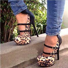 #black #cheetah #heels