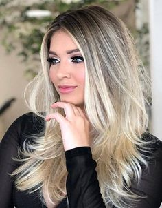 Cabelo Ombre Hair, Balayage Hair Blonde, Blond Hairstyles, Hair Color Highlights, Hair Looks, Hair Inspiration, Short Hair Styles, Hair Makeup, Hair Cuts