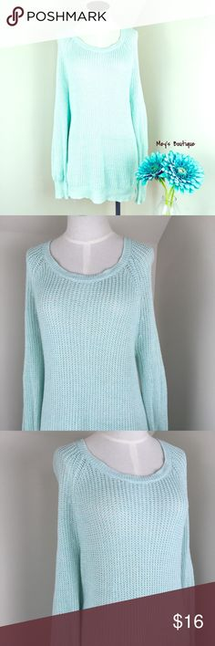 ⭐️LA Hearts Gorgeous Tight Knit Blue Sweater⭐️ ⭐️LA Hearts Gorgeous Tight Knit Blue Sweater⭐️ Size Medium. Excellent Condition. Very lightweight and tightly knotted. Very long! Next day shipping. All sales are final. La Hearts Sweaters Crew & Scoop Necks