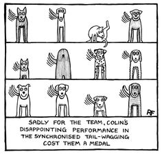 Comical Canine Olympians | © Off The Leash (Rupert Fawcett). All rights reserved