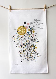 Outer Space Tea Towel by leahduncan on Etsy, $18.00