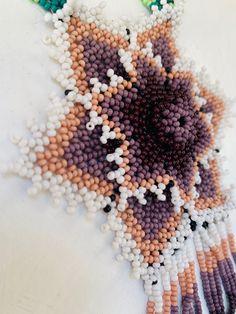 Arte Huichol Crochet Earrings, Etsy Seller, Create, Unique, Colors