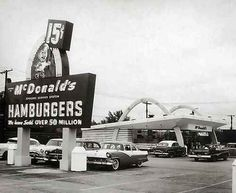 The chain's origins go back to the opening of a restaurant in 1940 by brothers Richard & Maurice McDonald in San Bernadino, CA; in 1948, they adopted the principles of the modern fast food restaurant put in place by the White Castle chain over two decades earlier. The present corporation dates its founding to the opening of a franchised restaurant by Ray Kroc, in Des Plaines, Illinois, on April 15, 1955, the 9th McDonald's restaurant overall.