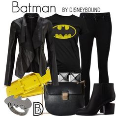 DisneyBound is meant to be inspiration for you to pull together your own outfits which work for your body and wallet whether from your closet or local mall. As to Disney artwork/properties: ©Disney.>>BATGIRL not Batman. Cosplay Casual, Cosplay Outfits, Edgy Outfits, Cute Outfits, Fashion Outfits, Punk Fashion, Rock Outfits, Lolita Fashion, Skater Outfits
