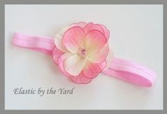 elastic to make baby headbands | How to make foldover elastic headbands