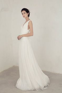 Wedding Dress Ideas, Designers & Inspiration : Reina Gown from Cortana wedding dresses Bridal Collection – Lace wedding dress lined with silk satin with a drapped sash tying around the wa… Tulle Wedding Gown, Wedding Dress Necklines, Wedding Dress Styles, Designer Wedding Dresses, Bridal Dresses, Lace Wedding, Enchanted Bridal, Lace Summer Dresses, Wedding Hair Inspiration