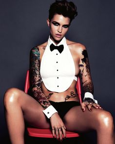 Ruby Rose was crowned GQ Australia's Woman of the Year and lesbians are losing their shit… I take that back, straight women and men, and lesbians are losing their shit. Better Braces, Gq Australia, Australian Models, Orange Is The New Black, Celebs, Celebrities, Woman Crush, Girl Crushes, Cute Girls