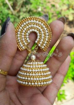 Quiling jhumkas