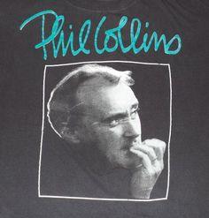 Vintage 90s Phil Collins Tour 1994 T-Shirt Fits L to XL