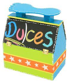 Dulcero para fiestas infantiles / Pintura para pizarrón / Regalo para niños / Dulces / Día del niño