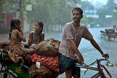 Moonson rain in India