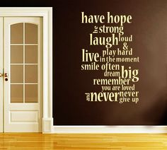 Have hope, be strong.. Design 1