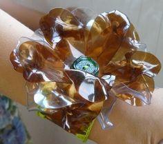 Plastic Bottle into cuff bracelet