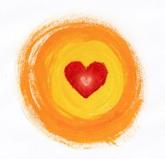 Warm heart painted sketch
