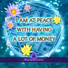 $ <3 Special Affirmation week to attract money <3 $ Today's Affirmation: I Am At Peace With Having Alot Of Money <3 #affirmation #coaching It is not enough just to repeat words, while repeating the affirmation, feel and believe that the situation is already real. This will put more energy into the affirmation.