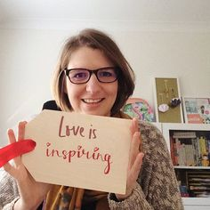 As part of theirs Love Is Real Valentine's campaign @notonthehighstreet invited their partners to decorate a wooden gift tag with what love means to them. For me Love Is Inspiring. As a designer I can make all kinds of designs in all kinds of different st