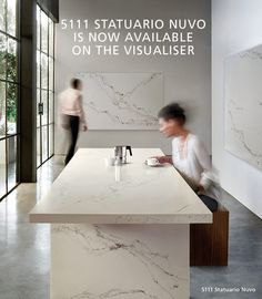5111 Statuario Nuvo is now available on The Visualiser. Visit our design application now and make Caesarstone's newest colour part of your dream kitchen or bathroom. http://www.caesarstone.ca/en/Pages/The-Visualiser.aspx