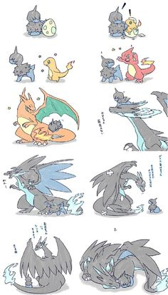 Little Deino no want evolve owo he happy way he us. And Charizard buddy is happy with that too!