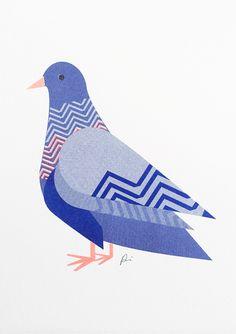 Pigeon Edition 4/Ziggy £22.00 @scouteditions #illustration #print #bird
