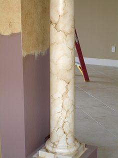 How To Paint Marble Columns | Art-Faux Wall Art Designs Naples Fl 239 417 1888