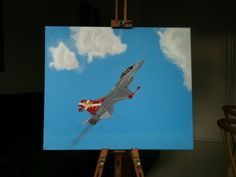 Aircraft F-16 Oil on canvas. 2012 @S.Tidmand