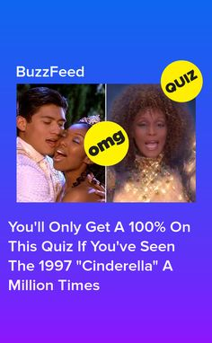 """You'll Only Get A 100% On This Quiz If You've Seen The 1997 """"Cinderella"""" A Million Times Rodgers And Hammerstein's Cinderella, Cinderella Movie, 90s Kids, Good Movies, The 100, Times, Awesome, Disney, 1990s Kids"""