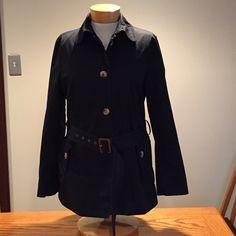 """Gap cotton pea coat. Size large. Gap black cotton pea coat. Size large. 27"""" long. 4 buttons and belt closure. (♍️) GAP Jackets & Coats Pea Coats"""