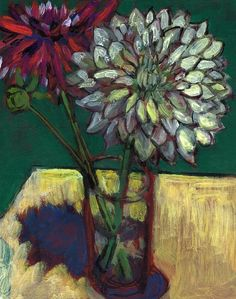 'Magenta and White Dahlias', 2014 - Jonathan Weinberg