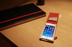 Wood and Leather cover case iPhone5S luxury case