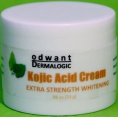 Proven Effective Kojic Acid Cream Skin Whitening Lightening Bleaching Cream 25 Grams by Odwant Dermalogic. $13.99. SKIN BENEFITS: This cream help eliminates and reduce freckles, dark spots, post-acne or pimple blemishes, sunburn and other skin blemishes and other pigmentation.. It has been proven to be safe and effective in brightening and whitening skin discoloration or pigmentation spots on all types of complexions with mild to moderate peeling effect due to exfoliation.. KOJ...