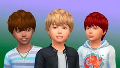 The Sims 4 | My Stuff: Messy Hair for boys | new mesh hairs hairstyle for male child
