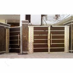 Manufacturer of Stainless Steel Main Gates - Stainless Steel Gate, laser cut Stainless Steel Gates, Stainless Steel Main Gate and Modern Stainless Steel Gates offered by Bajrang Steels Crafts, Faridabad, Haryana. Stainless Steel Gate, House Gate Design, Double Door Design, House Main Gates Design, House Front, Double Front Doors, Front Gate Design, Entrance Doors, Steel Door Design