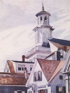 Hopper. Methodist Church, Provincetown (Iglesia Metodista, Provincetown), 1930